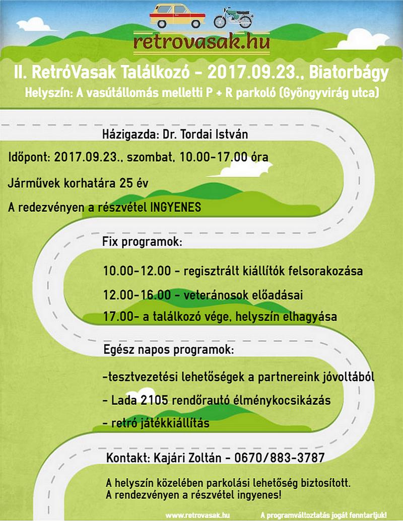 II. RetróVasak Találkozó program