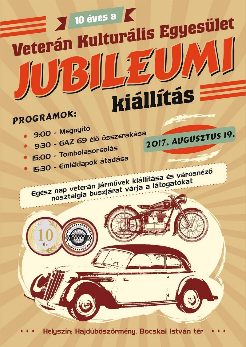Jubileumi Veterán Jármű Kiállítás